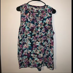 Maurice's Sleeveless Floral Blouse